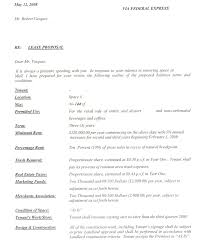 Example Of Letter Of Intent For Business Restaurant Sample Letter Of Intent 21