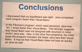 Template For Science Fair Project Conclusion Science Fair Example