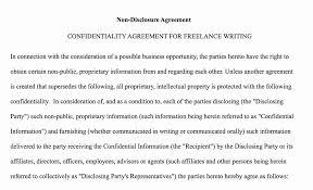 Confidential Agreement Sample Barca Fontanacountryinn Com
