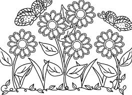 Flower Coloring Pages Free Printable For Butterfly And Flowers