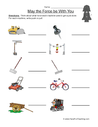 Force and Motion Worksheet 1