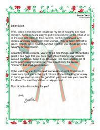 Santa Letter Naughty Or Nice
