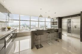Large Floor Tiles For Kitchen Using High Gloss Tiles For Kitchen Is Good Interior Design