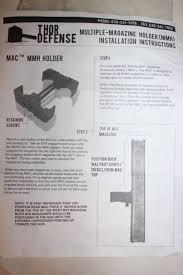 Multiple Magazine Holder Impressive Thor Defense Multiple Magazine Holder MMH CQB Kit ACU EBay