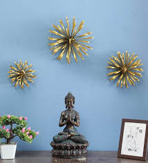 gold ace metal wall art set of 3 by