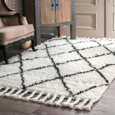 langley street twinar hand knotted wool off white dark gray area rug grey and white rugs