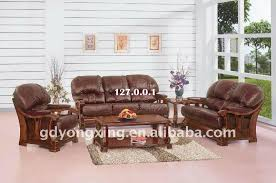 awesome leather and wood sofa leather and wood sofa set most unique amp creative sofa designs