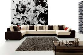 living room furniture ideas sectional. Living Room Sectional Ideas Home Cassa Sofa Designer Pattern Wall Ornaments Design With Cream And Brownie Furniture .