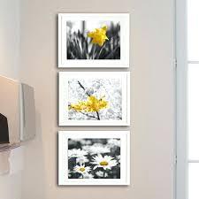 yellow and grey nursery wall decor set of three wall art yellow grey nursery wall art