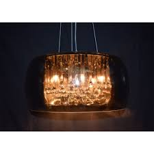 smoked dome crystal pendant ceiling light