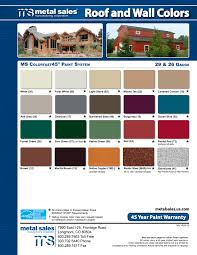 Pro Panel Ii Color Chart Steel Siding Metal Roofing Items