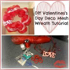 diy valentine s day deco mesh wreath tutorial