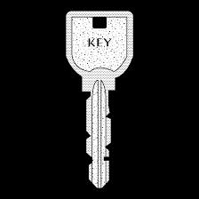 フリー素材おしゃれ鍵カギの 白黒 イラスト 商用フリー無料