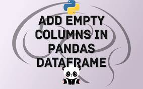how to add empty columns to dataframe