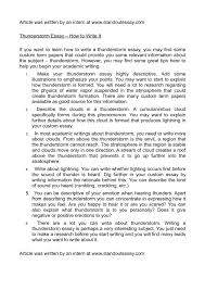 calam atilde copy o thunderstorm essay how to write it