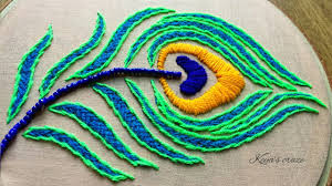Embroidery Feather Designs Hand Embroidery 2019 Peacock Feather Design Hand Embroidery Tutorial Keyas Craze