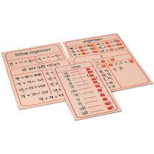 Hindi Matra Chart