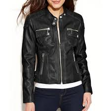 women s petite quilted black leather biker jacket