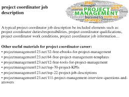 Project Coordinator Job Description