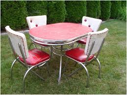 Retro Chrome Kitchen Table Kitchen Vintage Porcelain Kitchen Table And Chairs Vintage