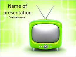 tv powerpoint templates green tv powerpoint template backgrounds id 0000006428