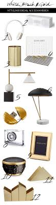 trendy office accessories. White, Black And Gold Stylish Accessories Trendy Office S