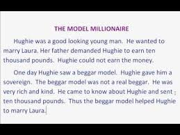 The Model Millionaire Summary With Tamil Translation Youtube