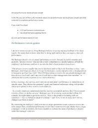 Sample Self Assessment Performance Evaluation Appraisal Form ...