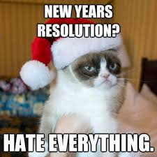 Happy New Year Cat Meme - grumpy cat happy new year meme related ... via Relatably.com