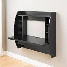 office computer desk. Amazon.com: Prepac Wall Mounted Floating Desk With Storage In Black: Kitchen \u0026 Dining Office Computer M