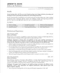 Online Resume Templates Inspiration Managing EditorPage48 Media Communications Resume Samples In