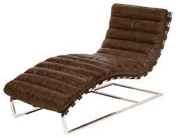 Living Room Chaise Lounge Chairs Oviedo Leather Chaise Lounge Contemporary Indoor Chaise Lounge