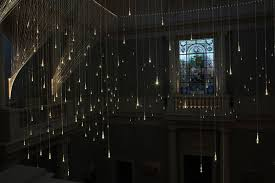 lighting shower. uk recreates a rain shower frozen in time munro strung up hundreds of sparkling raindrops made out tiny led lights transforming the space into an lighting s