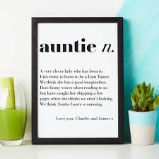 personalised aunty gift