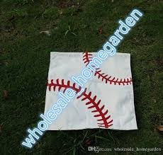 2019 ready to ship sports garden flag printed baseball soccer softball all cotton banner sport garden yard durable hanging flags outdoor decor from