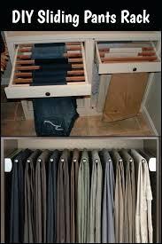 pants rack closet a clever way to organize your pants build a sliding pants rack and pants rack