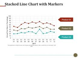 Stacked Line Chart With Markers Ppt Powerpoint Presentation