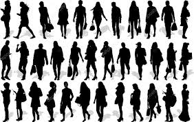 Vectors Silhouettes Set Of 35 Vectors Silhouettes Of People In Action Stock Vector