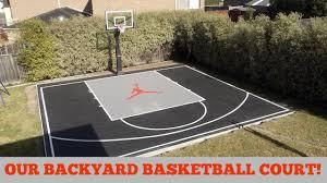 home basketball court design. Nice Basketball Court In Backyard OUR BACKYARD BASKETBALL COURT YouTube Home Design: Design M