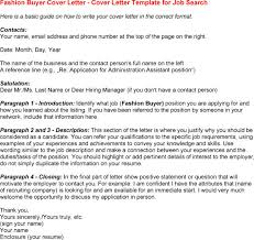Professional fashion buyer cover letter