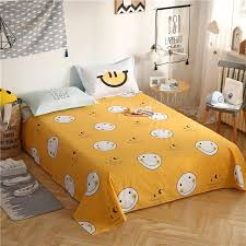 high quality 100 cotton yellow bed sheets flat sheet bed linens bedsheets sets twin full queen size pillowcase home textile childrens bedding quilt cover