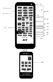 remote control drawing. patent drawing remote control