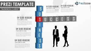 business cubes prezi template prezibase 3d diagram cubes for business presentation and silhouettes infographic prezi template
