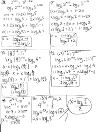 exponential and logarithmic equations worksheet