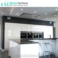affordable crystal grey quartz countertops with white cabinets
