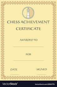 Certificate Outline Chess Achievement Certificate Template On Old