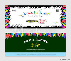 gift card formats back to school gift certificate voucher gift card or cash