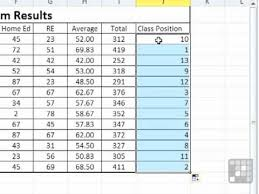 Rank Functions Excel Ms Excel 2010 Tutorial Use A Formula To Rank Scores In Excel Youtube