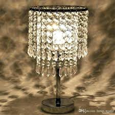 led nightstand lamp chrome round crystal chandelier bedroom nightstand table lamp led night light bedside