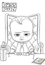 Small Picture Coloring Pages Boss Baby Coloring Page Free Printable Coloring